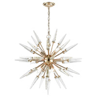 Dimond Lighting D3369 Valkyrie 6 Light 28 inch Gold and Clear Crystal Chandelier Ceiling Light
