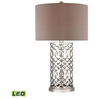 Dimond Lighting D337-LED Signature 30 inch 9.5 watt Polished Nickel Table Lamp Portable Light in LED