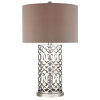 Dimond Lighting D337 Signature 30 inch 150 watt Polished Nickel Table Lamp Portable Light in Incandescent