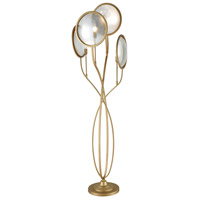 Le Style Metro 70 inch 60 watt Gold and Antique Mercury Floor Lamp Portable Light