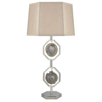 Dimond Lighting D3379 Askja 31 inch 100 watt Polished Nickel and Natural Agate Table Lamp Portable Light, Dual Aria