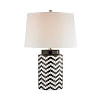 Dimond Lighting Chevron 1 Light LED Table Lamp in Black and White Ceramic D339-LED
