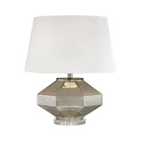 Angular Blown Glass 23 inch 9.5 watt Antique Mercury Table Lamp Portable Light in LED