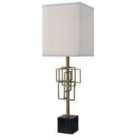 Dimond Lighting D3476 Hollywood Squarze 30 inch Weathered Antique Brass and Black Marble Table Lamp Portable Light