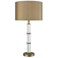 Dimond Lighting D3478 Infinitum 27 inch Clear Crystal and Weathered Antique Brass Table Lamp Portable Light