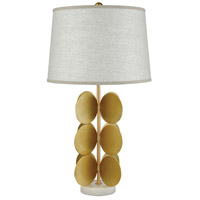 Cotillion 30 inch White Marble and Gold Metal Table Lamp Portable Light