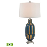 Dimond Lighting D351-LED Signature 36 inch 9.5 watt Blue and Off White Table Lamp Portable Light in LED