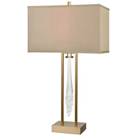 Melt Down 31 inch Cafe Bronze and Clear Table Lamp Portable Light