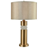 Splice 29 inch Cafe Bronze and White Alabaster Table Lamp Portable Light