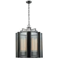 Dimond Lighting D3540 Space Elevator 8 Light 21 inch Aged Pewter Chandelier Ceiling Light