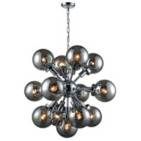 Dimond Lighting D3541 Ballistic 13 Light 31 inch Chrome Chandelier Ceiling Light