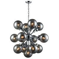 Dimond Lighting D3541 Ballistic 13 Light 31 inch Chrome Chandelier Ceiling Light
