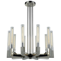Thrust 10 Light 31 inch Polished Nickel Chandelier Ceiling Light