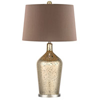 Dimond Lighting D355 Antique Mercury Glass Bottle 27 inch 9.5 watt Antique Gold Mercury and Polished Nickel Table Lamp Portable Light in Incandescent