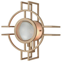 Lens Flair 1 Light 12 inch Matt Gold Wall Sconce Wall Light