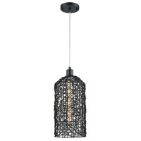 Haute Cross 1 Light 7 inch Black Pendant Ceiling Light