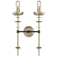 Orion 2 Light 14 inch Oil Rubbed Bronze and Antique Silver Wall Sconce Wall Light