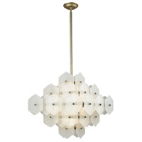 Cash 8 Light 22 inch Antique Silver and White Matte Pendant Ceiling Light