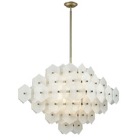 Cash 12 Light 29 inch Antique Silver and White Matte Pendant Ceiling Light, Double