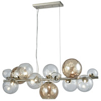 Dimond Lighting D3599 Bubble 9 Light 36 inch Silver Leaf Bar Pendant Ceiling Light