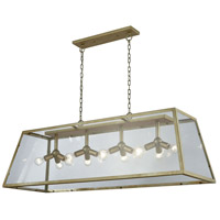 Dimond Lighting D3600 Jackson 12 Light 54 inch Antique Silver Cluster Barn Light Ceiling Light