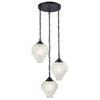 Duke 3 Light 23 inch Oil Rubbed Bronze and White Pendant Ceiling Light, Triple
