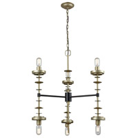 Orion 6 Light 28 inch Oil Rubbed Bronze and Antique Silver Pendant Ceiling Light