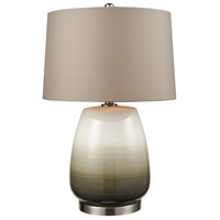 Salton City 25 inch Grey Ombre with Nickel Table Lamp Portable Light