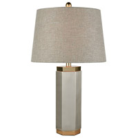 Gaius 28 inch Pewter and Aged Gold Table Lamp Portable Light