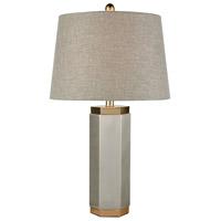 Dimond Lighting D3630 Gaius 28 inch 150 watt Pewter/Aged Gold Table Lamp Portable Light