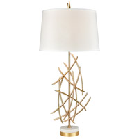 Dimond Lighting D3648 Parry 36 inch Gold Plated Metal and White Marble Table Lamp Portable Light