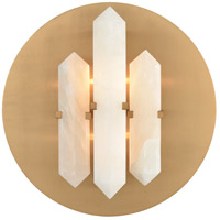 Annees Folles 2 Light 14 inch White and Aged Brass Wall Sconce Wall Light