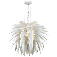 Pistil 3 Light 29 inch White Chandelier Ceiling Light