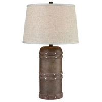 Alamo 26 inch Dark Brown Table Lamp Portable Light