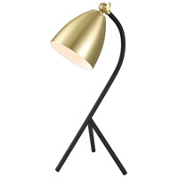 Roxanne Moulin 17 inch Satin Brass and Black Table Lamp Portable Light