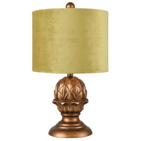 Vieux Lille 19 inch Antique Gold Table Lamp Portable Light