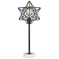Dimond Lighting D3791 Archimedes 24 inch 40 watt Black/White Marble Table Lamp Portable Light