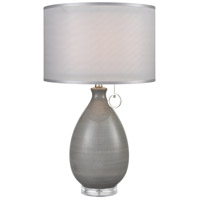 Clothilde 26 inch 100 watt Grey Glaze Table Lamp Portable Light