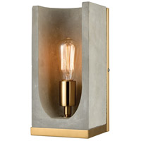 Shelter LED Concrete with New Aged Brass Wall Sconce Wall Light