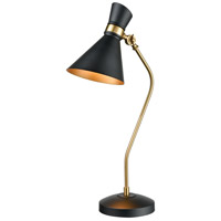 Dimond Lighting D3806 Virtuoso 29 inch 60 watt Black with New Aged Brass Table Lamp Portable Light
