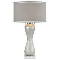 Geneve 30 inch 60 watt White Marble Table Lamp Portable Light
