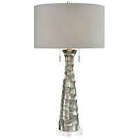 Bite 33 inch 60 watt Antique Silver Table Lamp Portable Light