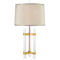 Dimond Lighting D3822 Courtier 28 inch 150 watt Clear with Gold Table Lamp Portable Light