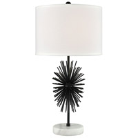 Dimond Lighting D3826 Sprung 27 inch 150 watt Dark Bronze with White Table Lamp Portable Light