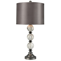 Dimond Lighting D3833 Zhivago 32 inch 150 watt Printed Marble with Pewter Table Lamp Portable Light