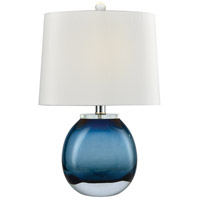 Playa Linda 19 inch 60 watt Blue Table Lamp Portable Light