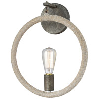 Lasso LED Grey Rope with Grey Brown Rust Wall Sconce Wall Light