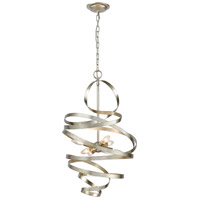 Dimond Lighting D3872 Gliss LED 17 inch Silver Leaf Chandelier Ceiling Light