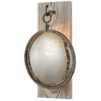 Truth or Consequences LED Brown Grey Rust with Grey Washed Wood Wall Sconce Wall Light