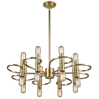 Dimond Lighting D3874 Splendor LED 30 inch New Aged Brass Chandelier Ceiling Light